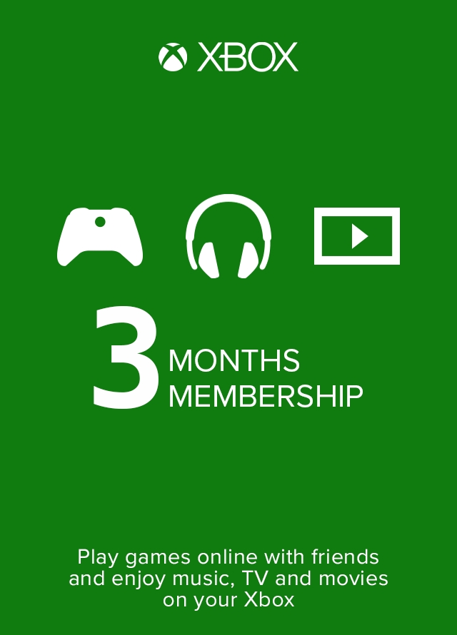 Buy Xbox Live Gold 3 Month Membership Xbox